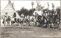 Черноногие, Виннипег. 1913 год. Фото Geraldine Moodie.