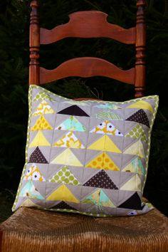 modern quilting pillow