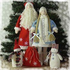 Купить Дед Мороз и Снегурочка - Дед Мороз и Снегурочка, новогодние игрушки, дед мороз, снегурочка