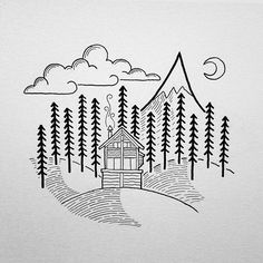 Embroidery Pattern from Drawings by David Rollyn via Instagram.com. jwt