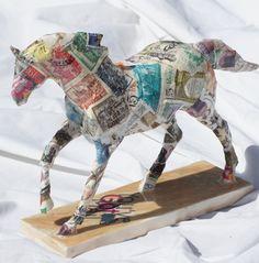 "Trail of Painted Ponies (Artist Signed) Custom Horse -"" I Got Mail "" bt artist Monika Nieborek SOLD :)"