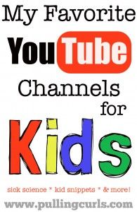 "Youtube is a great place for kids to take a small ""breather"" from whatever they're doing and cuddle up with mom.  Here's some of my favorite YouTube Kids Channels."