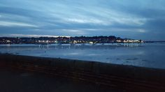 A photo of Cowes at dusk, taken from East Cowes