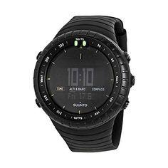 Suunto Core All Black Digital Display Quartz Watch, Black Elastomer Band, Round Case Sport Watches, Watches For Men, Citizen Watches, Unique Watches, Casual Watches, Men's Watches, Spy Watch, Watch Deals, Top Computer
