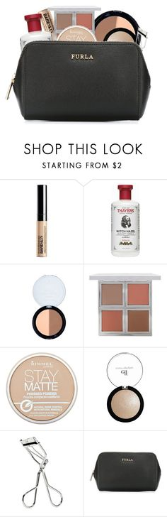 """""""my everyday makeup routineee"""" by jasietotesecond ❤ liked on Polyvore featuring beauty, Bare Escentuals, Thayers, Forever 21, Rimmel, Old Navy and Furla"""