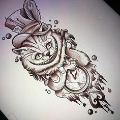 """481 Likes, 10 Comments - Fede (@fedealmanzor) on Instagram: """"We're All Mad Here ! Uno de los diseños que tatuaré en Alemania #traditional #neotraditional…"""""""