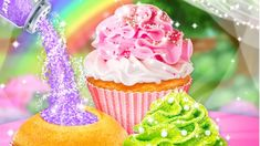 Glitter Cupcake Desserts - Trendy & Sparkly Desserts Food - Fun Cooking Games For Girls Cooking Games For Girls, Games For Kids, Glitter Cupcakes, Dessert Recipes, Desserts, Good Food, Make It Yourself, Games For Children, Deserts