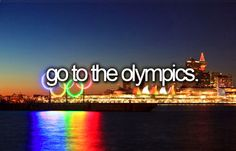 I've officially decided that before I die I want to attend the winter olympics #BucketList it would be so cool to see it live!!!!