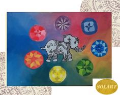 Elefante Hindu y los siete Chacras
