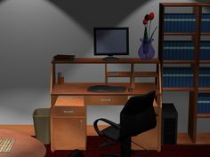 Office Design Interior Design Software, Corner Desk, Furniture, Home Decor, Homemade Home Decor, Corner Table, Home Furnishings, Decoration Home, Arredamento