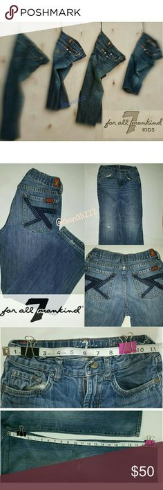 7 FOR ALL MANKIND Kids jeans Previously Loved Good quality denim still in good condition Style: Relaxed Boy/Girl can use 7 For All Mankind Bottoms Jeans
