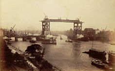 Never before seen photograph of the construction of Tower Bridge between 1892-1893 in London, England.