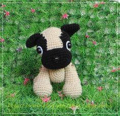 Cute puppy crochet pattern  patrón de pago