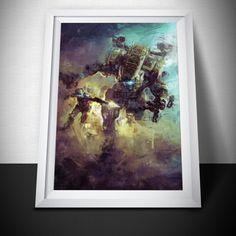 TitanFall 2 Painting Print. TitanFall Poster . #art #painting #video #titanfall #gameroom #overwatch #ziggystardust #dustedpixels #destiny #game