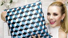 Un oreiller à effet 3D - couture tuto, couture facile pour débutant