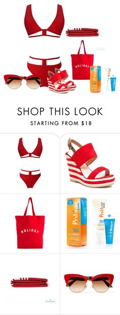 """Red bikini"" by barebear1965 ❤ liked on Polyvore featuring French Blu and Dolce&Gabbana"