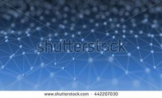 Abstract Neural Network on Blue Background 3d Illustration Concept Background