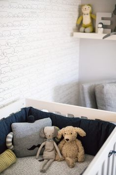 Baby boy nursery inspiration that's fresh and modern, but still warm and cozy