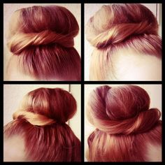 "how to do ""the audrey"" bun // such a cute upgrade on the sock bun!"