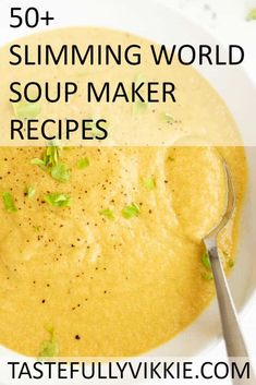 50 Slimming World Soup Maker Recipes - Tastefully Vikkie - Slimming World Soup Maker Recipes - astuce recette minceur girl world world recipes world snacks Slimming World Soup Recipes, Slimming World Dinners, Slimming World Diet, Slimming Eats, Healthy Dinner Recipes, Diet Recipes, Cooking Recipes, Healthy Soup, Easy Recipes