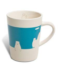 Miya Company Blue Polar Bear 6-Oz. Mug | zulily