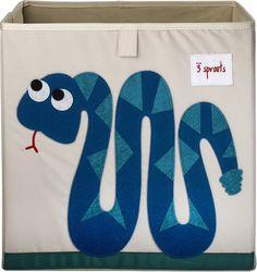 Schlangen Spielzeugbox 33 x 33 x 33 cm von 3 sprouts
