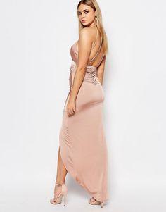 Image 2 ofAriana Grande for Lipsy Slinky Halter Neck Ruched Dress