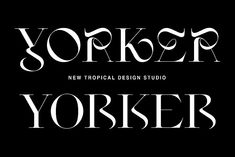 Yorker - Experimental Serif Typeface by New Tropical Design on @creativemarket