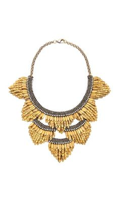 Deepa Gurnani Fringed Layered Necklace