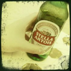 Cheers!  My favorite cold one, Stella!