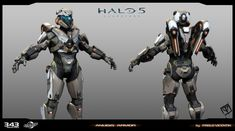 ArtStation - Halo 5 Guardians _ Anubis Armor, pablo vicentin Robot Concept Art, Weapon Concept Art, Armor Concept, Halo Cosplay, Halo Spartan, Halo Armor, Halo Series, Halo Collection, Future Soldier