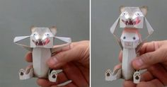 Japanese designer Haruki Nakamura has a knack for creating all kinds of interesting paper objects from puzzles to kirigami toys. One of his best designs is this awesome squeezable paper puppet that reveals a sheep wearing wolf's clothing. Also check out his penguin bomb, a type of automated paper pu