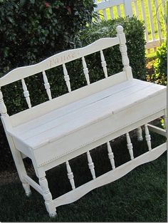 I Have This Same Bed Frame What A Great Idea Garden Pinterest Bed Benc