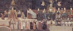 Ambrogio Lorenzetti Effects of Good Government on the City Life (detail), fresco in the Palazzo Pubblico, Siena