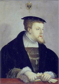 "Charles V Holy Roman Born in son to Juana de Castilla and Felipe ""el Hermoso"" Nephew of Catherine of Aragon. Look at the Hapsburg jaw! European History, Ancient History, Art History, Renaissance Fashion, Renaissance Art, Renaissance Portraits, 16th Century Fashion, Tudor Dynasty, Tudor Era"