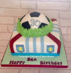 Aston villa football cake.
