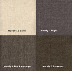 Moody 16 Sand/ 2 Natt/ 4 Svart Melange/ 6 Espresso Moody 16 Sand/ 2 Night/ 4 Black Melange/ 6 Espresso