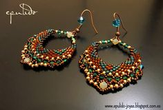 "#beadwork epulido: Pendientes ""Sari"""