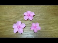 62 New Ideas Origami Paper Flowers Tutorial How To Make Origami Paper Folding, Origami Paper Crane, Origami Star Box, Origami And Kirigami, Cherry Blossom Origami, Cherry Blossoms, Quilling, Origami Heart With Wings, Origami Flowers Tutorial