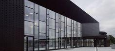 Illuminated Facade Design At Ystad Arena