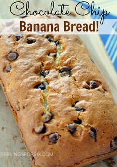 Homemade Chocolate Chip Banana Bread #bananabread #breads