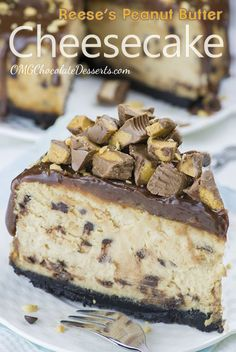 Looking for the best peanut butter cheesecake recipe? This Chocolate Peanut Butter Cheesecake is for you, hardcore chocolate peanut butter lovers. Reese's Peanut Butter Cheesecake, Oreo Crust Cheesecake, Chocolate Peanut Butter Cheesecake, Best Cheesecake, Reeses Peanut Butter, Homemade Cheesecake, Chocolate Peanut Butter Dessert, Peanut Butter Dessert Recipes, Oreo Cheesecake Recipes