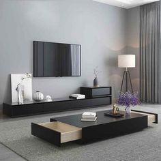 Centre Table Living Room, Modern Living Room Table, Home Living Room, Modern Tv Room, Living Room Tv Cabinet, Modern Wall Units, Apartment Living, Tv Stand Decor, Living Room Tv Unit Designs
