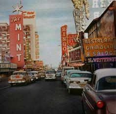 Las Vegas strip, 1958