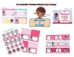 Doc Mcstuffins party ideas | INSTANT DL- Doc Mcstuffins Birthday Party Package - Printable set (NON ...