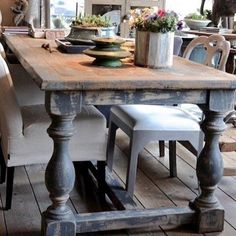 34 amazing painted farmhouse table images home lunch room dining rh pinterest com