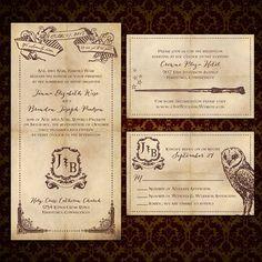 "Custom ""We Solemnly Swear"", Harry Potter-Inspired Wedding Invitations"