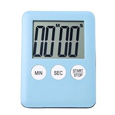 Kitchen Timer 100 Minute Lcd Diplay Digital Kitchen Time Counter Cook Gym Run Alarm Clock Kitchen Gadget Cooking Tool Blue