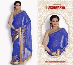 Shower your lady love with some surprise gifts...Get this gorgeous saree online and we promise to deliver guaranteed happiness! Shop Saree Online at - http://www.aishwaryadesignstudio.com/designer%20sarees/19643-classy-blue-color-party-wear-saree.aspx