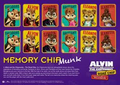 Free Alvin and The Chipmunks Memory Matching Card Game